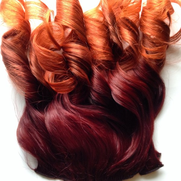 18 inch ombre bright auburn to orange clip in 100 remy human hair 18 inch ombre bright auburn to orange clip in 100 remy human hair extensions set pmusecretfo Image collections
