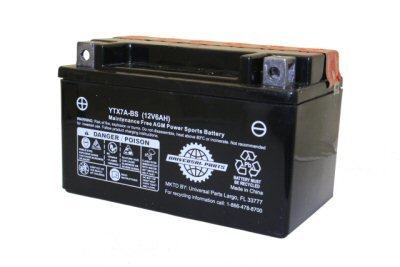 12V 8.5AH Battery YTX9-BS FOR MADDOG 150CC