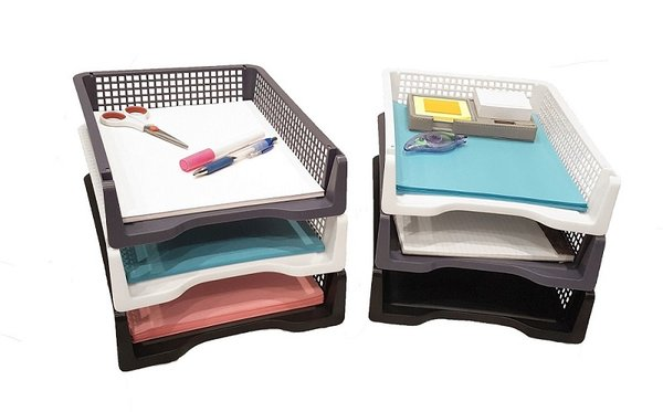 side com quill recycled stackable loading desk tray trays eldon cbs letter size