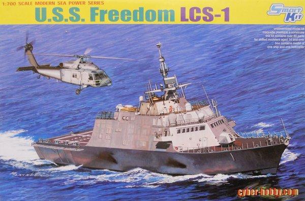 Uss freedom lcs 1 cyber hobby 1 700 plastic model kits - Uss freedom lcs 1 photos ...