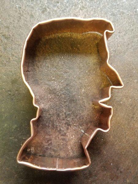President Reagan Copper Cookie Cutter Walnutcreek