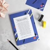 Teacher Poem Notebook