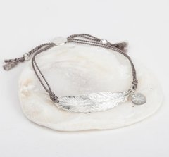 Feather and Silk Bracelet