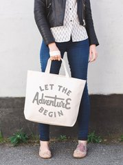 Let the Adventure Begin Large Tote