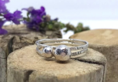 Silver Pebbles Ring