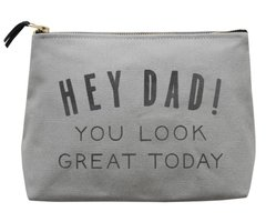 Hey Dad Grey Wash Bag