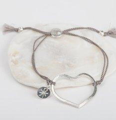Open Heart Silk Bracelet
