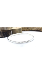 Personalised Sterling Silver Family Bangle