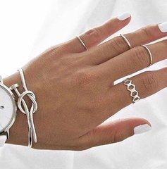 Nail knot bangle - Silver