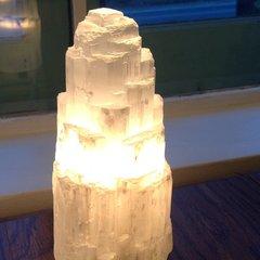 Large Selenite Lamp