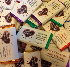8 Piece Assorted Organic Raw Chocolate Bars