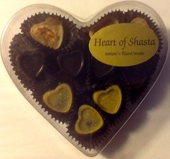 10 pc 3 Flavor Heart Box Handmade Organic Raw Chocolates 3oz
