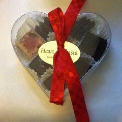 12 pc Assorted Heart Box Handmade Organic Raw Chocolates 3.8oz
