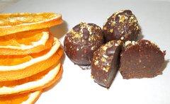 Orange Truffles - 4 pieces per box - Dairy Free