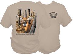 Woodlands Buck Dri Fit Sand Short Sleeve T Shirt