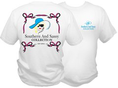 Southern And Sassy Logo T - White Short Sleeve T Shirt - Southern and Sassy COLLECTION