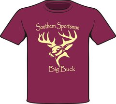 Big Buck ( Youth, Toddler, and Infant ) Short Sleeve & Long Sleeve Shirts Navy with Khaki Print