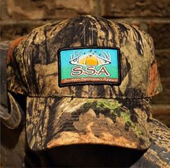 Country Camo Snapback Hat with our Fine Woven Patch Logo.