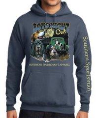 Boys Night Out Coon Hunting Design Slate & Royal ( Short Sleeve, Long Sleeve, & Hoodie)