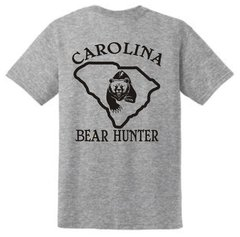 Carolina Bear Hunter Short Sleeve T Shirts - Vinyl (4 Colors Available)