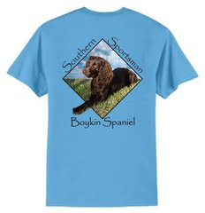 Boykin Spaniel Aquatic Blue Short Sleeve T Shirt