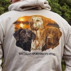 3 Labs Sunset Design on Ivory short sleeves, long sleeves, and hoodies.