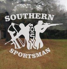 White Soutern Sportsman One Shot Kill decal #1 ( 5 x 4 )