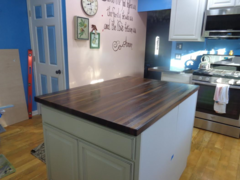 "#3C Walnut Butcher Block Top 1-1/2""x 36""x 48"""