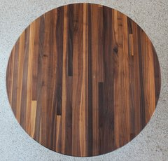 "#1C Walnut Butcher Block 1-1/2""x 24"" Round Top"