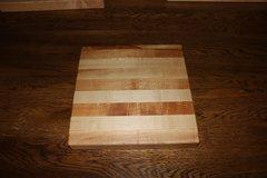 """Hard Maple 9""""x 9"""" Edge Grain Cutting Board"""