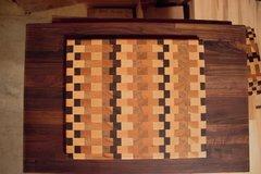"""Checkered 12""""x 14"""" End Grain Cutting Board"""
