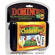 CHICKENFOOT TRAVEL FUN SIZE NUMBER DOMINO GAME BY PUREMCO
