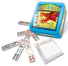 Puremco Spinner Double 9 Dominoes 11Wild Tiles in Collectible Tin
