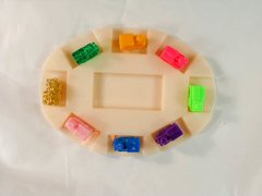 8 MEXICAN TRAIN ENGINE DOMINO GAME MARKERS WITH STARTER HUB