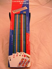 3 Track Color Solid Wood Cribbage Board by CHH