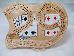"3Track ""29"" Cribbage Board - Solid Wood with Pegs"
