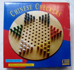 "Checkers Game 7"" Natural Solid Wood Chinese Perfect for Vacation & Travel"