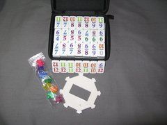 MEXICAN TRAIN To Go NUMBER DOMINO SET TRAVEL DOMINOES
