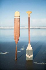 Wood Paddle Wall Decor with 2 Hooks