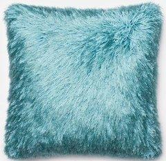 Blue Shag Pillow