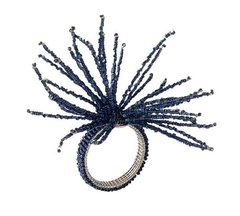 Spider Bead Burst Napkin Ring Set of 4