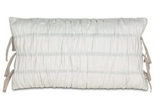 Breeze White Ruched Pillow