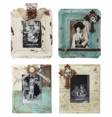 "5x7"" Embossed Metal Photo Frame, 4 Styles"