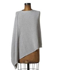 Small Cable Knit Poncho