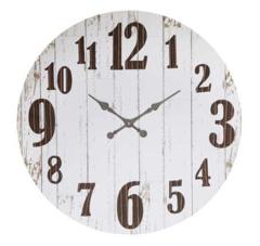 Antique Painted White Clock