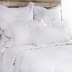 Mathilde White Euro Pillow Sham
