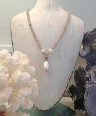 Silverite Strand with Teardrop Pearl