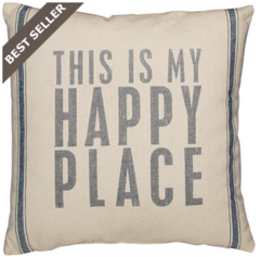 "Beach Pillow - ""This is my Happy Place"""