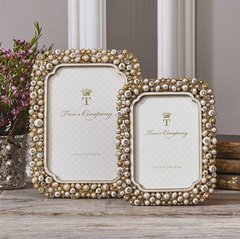 Crystals and Pearls  Photo Frames set of (2)