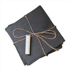 Square Slate Coasters Set of 4